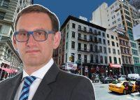 HAP Investments CEO Eran Polack and 65 Franklin Street (Credit: Google Maps)