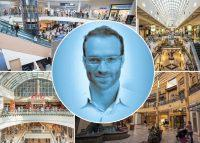 Macerich shopping malls and Macerich's Jesse Franklin (Credit: Macerich and CREtech)