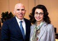 RXR Realty's Scott Rechler and CBRE's MaryAnn Tighe (Credit: Emily Assiran)