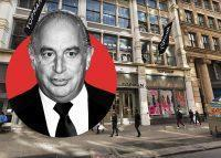 Arcadia Group CEO Philip Green and Topshop and Topman stores at 478 Broadway (Credit: Getty Images and Google Maps)