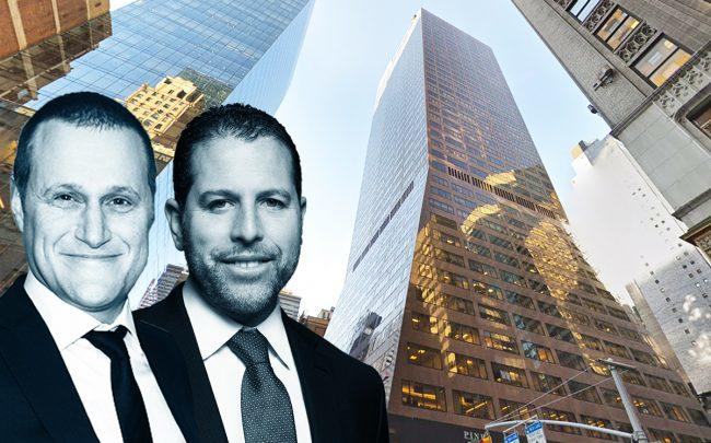 Tishman Speyer's Rob Speyer and Madison Realty Capital's Josh Zegen with 520 Madison Avenue (Credit: Google Maps)