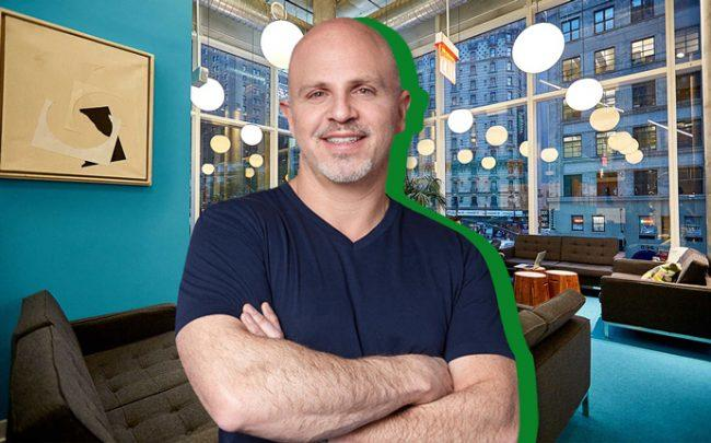 The Yard CEO Morris Levy and The Yard coworking space (Credit: iStock and Croissant Blog)