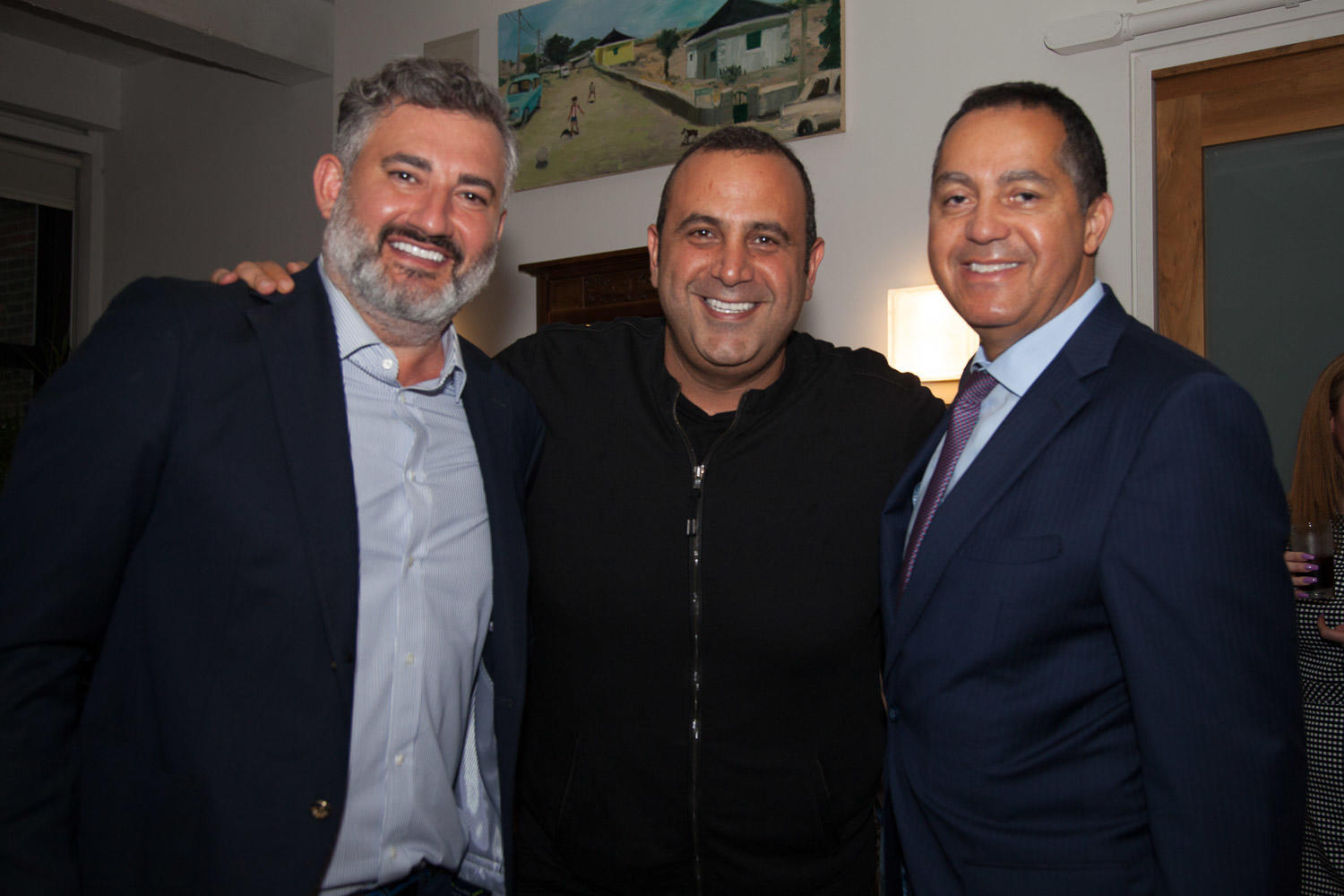The Real Deal's Amir Korangy, SBE Entertainment's Sam Nazarian, and Peebles Corporation's Don Peebles