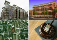 Clockwise from top left: CBRE arranges $53.5M in refinancing at two properties in Norwalk, buildings with loft-style apartments aimed at artists open in Peekskill, a Ridgefield insulation contractor pleads guilty to being involved in a $45M bid-rigging scheme and a developer proposes building an affordable assisted living facility in Mount Vernon.