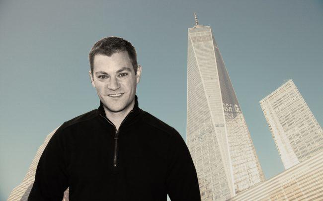 Olo founder and CEO Noah Glass and 1 World Trade Center (Credit: Venture for America and Pixabay)