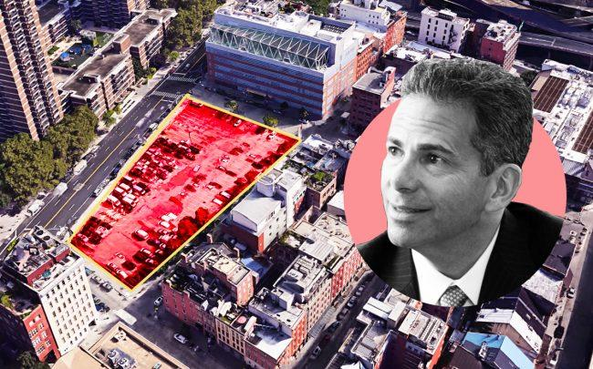 250 Water Street and Howard Hughes Corporation CEO David Weinreb (Credit: Google Maps)