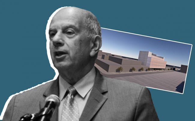 Union's Benefit Funds CEO Robert Greenspan and a rendering of the project (Credit: Hotel Workers)
