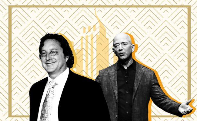 Philip Falcone and Jeff Bezos (Credit: iStock and Getty Images)