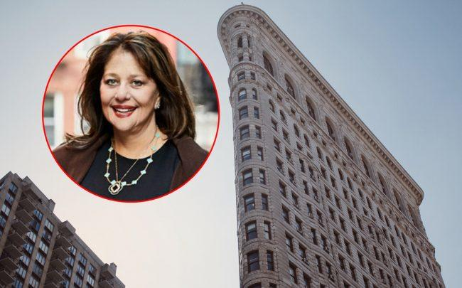 GFP Real Estate principal Jane Gural-Senders and the Flatiron Building at  175 5th Avenue (Credit: Pixabay)
