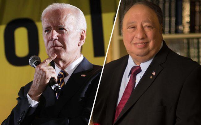Joe Biden and John Catsimatidis (Credit: Getty Images)