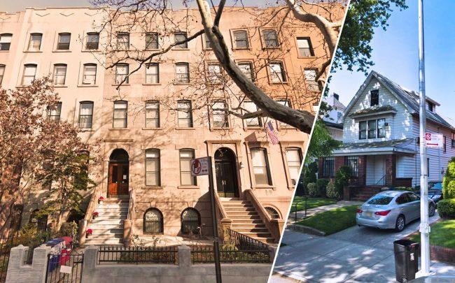 83 1st Place in Carroll Gardens and 952 East 9th Street in Midwood (Credit: Google Maps)