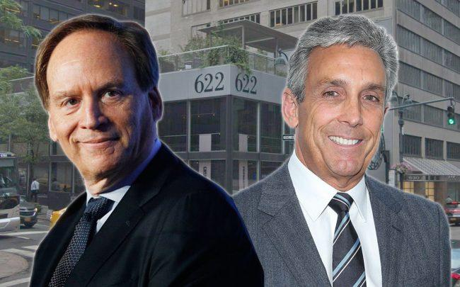 From left: McCann Chairman & CEO Harris Diamond, Cohen Brothers Realty President & CEO Charles S. Cohen and 622 Third Avenue (Credit: Getty Images, Google Maps)
