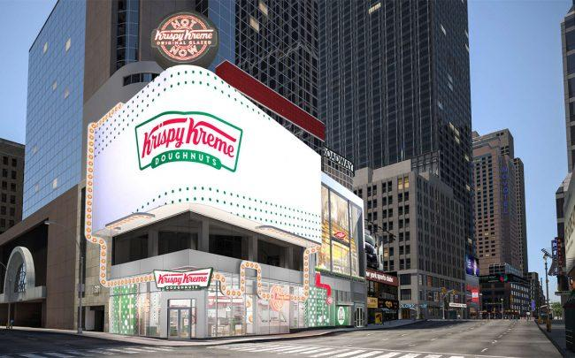 A rendering of Krispy Kreme's Time Square flagship