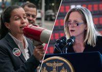 Public defender Tiffany Cabán and Queens Borough President Melinda Katz (Credit: Getty Images)