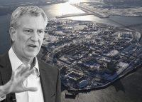 Mayor Bill de Blasio and Rikers Island (Credit: Getty Images)