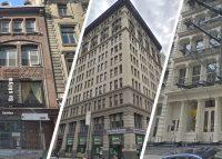 From left: 28 West 56th Street, 90 Fifth Avenue and 71 Greene Street (Credit: Google Maps)