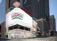 A rendering of Krispy Kreme's Time Square flagship
