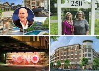 Clockwise from top left: Bruce Willis lowers asking price on Bedford Corners estate by nearly $1M (credit: Wikipedia andHoulihan Lawrence), Wilton-based agency joins Berkshire Hathaway's HomeServices as residential brokerage consolidation comes to Connecticut, CVS signs lease as anchor tenant at New Rochelle's Rockwell development and Nordstrom sets an opening date for its store at Norwalk's new SoNo Collection (credit: JohnOwensCT).