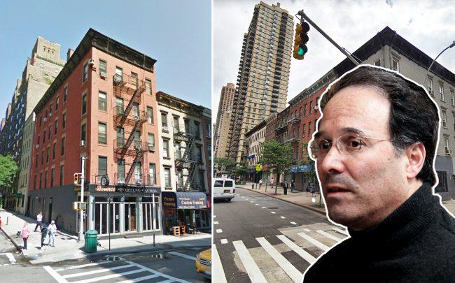 From left: 241 East 73rd Street, 1514-1528 First Avenue, and Extell Development's Gary Barnett (Credit: Google Maps)