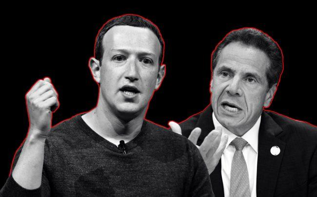 Facebook CEO Mark Zuckerberg and New York Governor Andrew Cuomo (Credit: Getty Images)