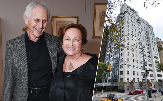 Lloyd and Barbara Macklowe and 900 Fifth Avenue (Credit: Getty Images and Google Maps)