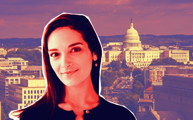 Senator Julia Salazar (Credit: Salazar for Senate, and iStock)