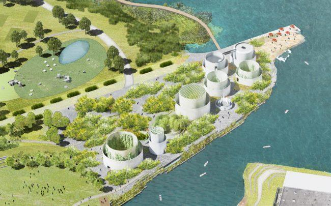Renderings of The Tanks at Bushwick Inlet Park (Credit: Studio V)