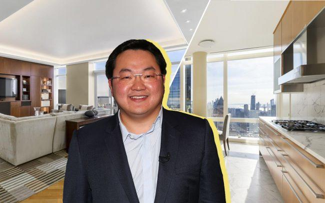 Jho Low and the Mandarin Oriental penthouse at 80 Columbus Circle (Credit: Getty Images and StreatEasy)
