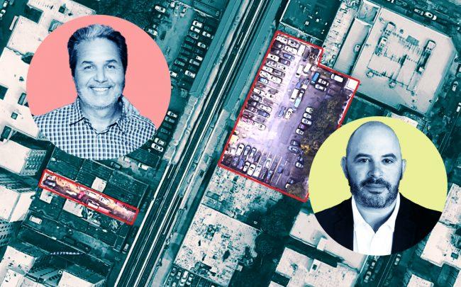 1159 and 1184 River Avenue with Maddd Equities' Jorge Madruga (left) and Joy Construction's Eli Weiss (right) (Credit: Google Maps)