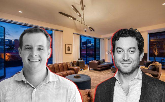 Flatiron Health CEO Nat Turner and Shutterstock CEO Jonathan Oringer with the penthouse of 71 Laight Street (Credit: Getty Images)