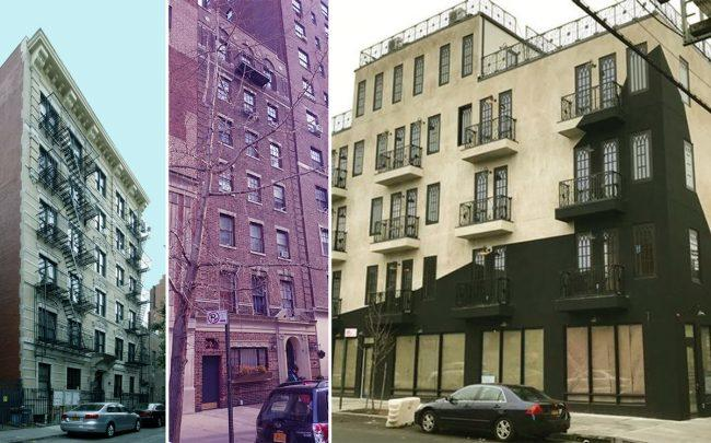 From left: 227 Waverly Place, 29 5th Avenue, and 1487 Broadway in Bushwick (Credit: Renaissance Properties New York, StreetEasy, and Apartments)
