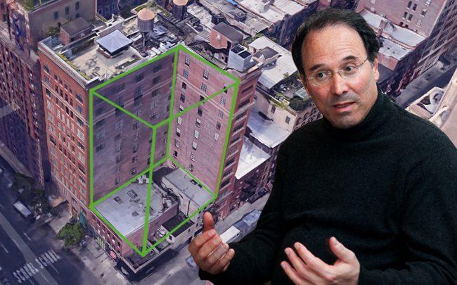 206 West 17th Street, 116 7th Avenue, and Extell Development's Gary Barnett (Credit: Google Maps)