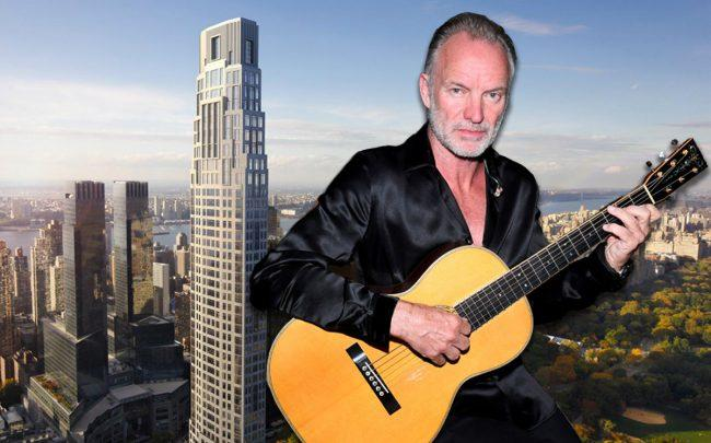 Sting and 220 Central Park South (Credit: Getty Images, Vornado Realty Trust)