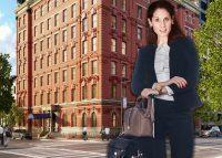 Margaret Streicker Porres and 101 West 78th Street (Credit: Linkedin, Corcoran, iStock)