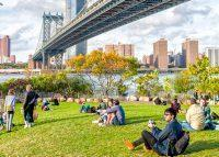 Among Brooklyn's priciest spots is DUMBO; pictured is the neighborhood's Main Street Park (Credit: iStock)