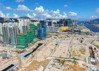 An aerial view of construction at the former Kai Tak Airport (Credit: Wikipedia)