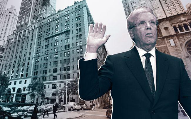 Former Bear Stearns CEO Jimmy Cayne and 510 Park Avenue (Credit: Getty Images and Google Maps)