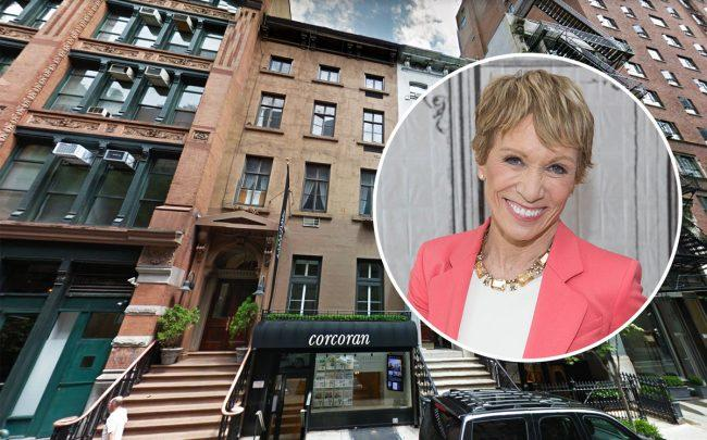 49 East 10th Street and Barbara Corcoran (Credit: Google Maps and Getty Images)