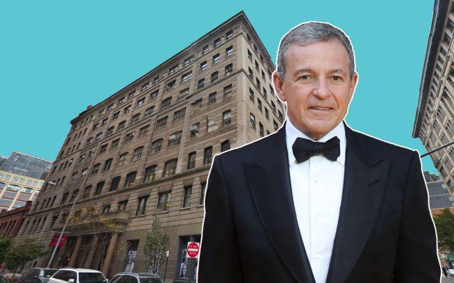 304 Hudson Street and Walt Disney Company CEO Robert Iger (Credit: Google Maps)