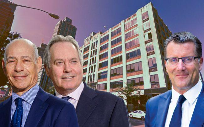 From left: Taconic co-CEOs Charles Bendit and Paul Pariser, 125 West End Avenue, and Nuveen's Mike Sales (Credit: Taconic, Google Maps, and Nuveen)