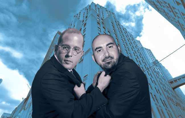 Rotem Rosen and Alex Sapir with 11 Madison Avenue (Credit: iStock and Google Maps)