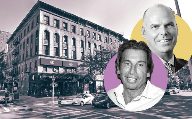 2686-2690 Broadway, Hank Fried of Branic International Realty (left), and Doug Yearley of Toll Brothers (Credit: Google Maps, Getty Images, and Toll Brothers)