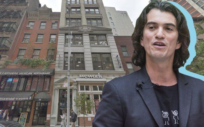 Adam Neumann and 88 University Place (Credit: Getty Images, Google Maps)