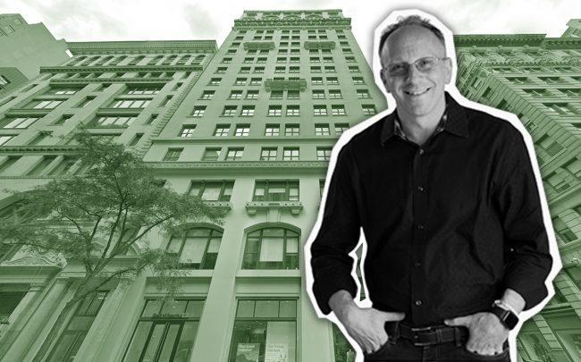 Unqork CEO Gary Hoberman and 114 Fifth Avenue (Credit: Google Maps)