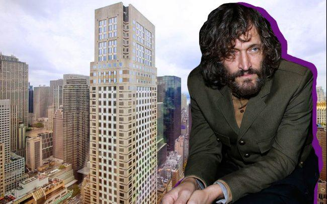 Vincent Gallo and Trump Tower (Credit: Getty Images, StreetEasy)