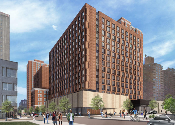 A rendering of 165 Broome Street (Credit: Handel Architects)