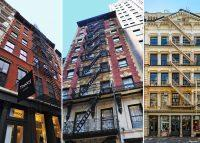 From left: 47-49 Greene Street, 129 West 46th Street and 457 Broome Street (Credit: Google Maps and Meridian Investment Sales)