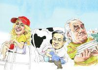 From left: Pam Liebman, Young Woo and Benjamin Brafman (Illustration by Paul Kisselev)