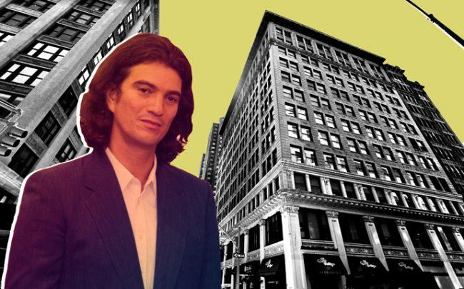 WeWork CEO Adam Neumann and 21-33 Irving Place (Credit: Getty Images and Google Maps)
