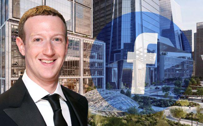 Mark Zuckerberg and 50 Hudson Yards (Credit: Huston Yards New York, Getty Images and Facebook)
